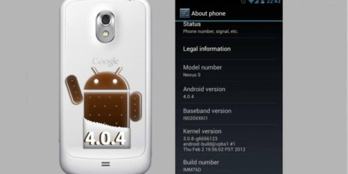 Android 4.0.4 también irá a los Galaxy Nexus GSM y Nexus S