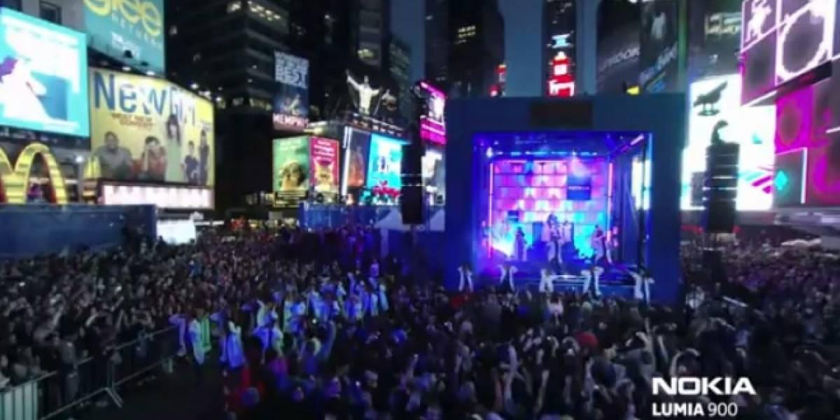 Nokia Lumia 900 y Nicki Minaj encandilaron en Times Square