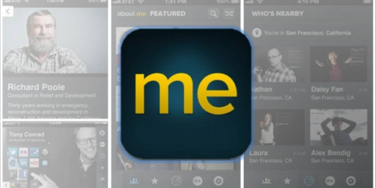 About.me tiene app para iPhone