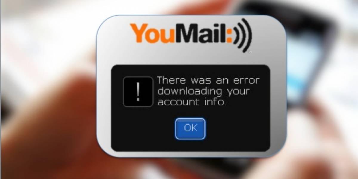 Youmail también le rompe la lámpara a RIM