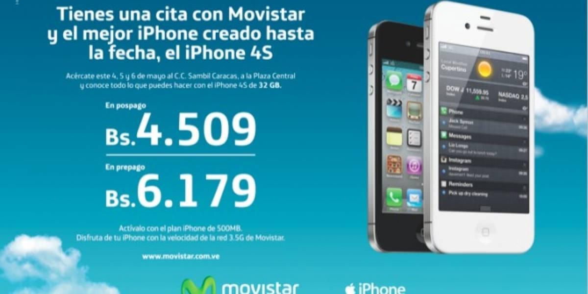 Venezuela: Movistar venderá masivamente el iPhone 4S en el Centro Sambil de Caracas