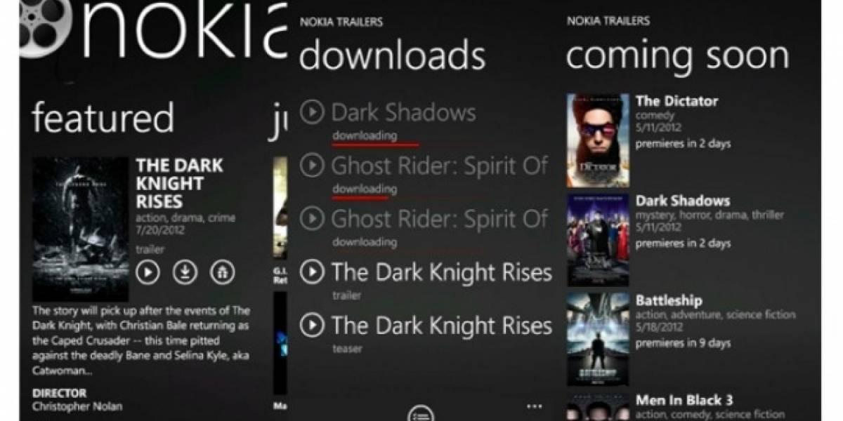 Nokia lanza app de trailers para Lumia