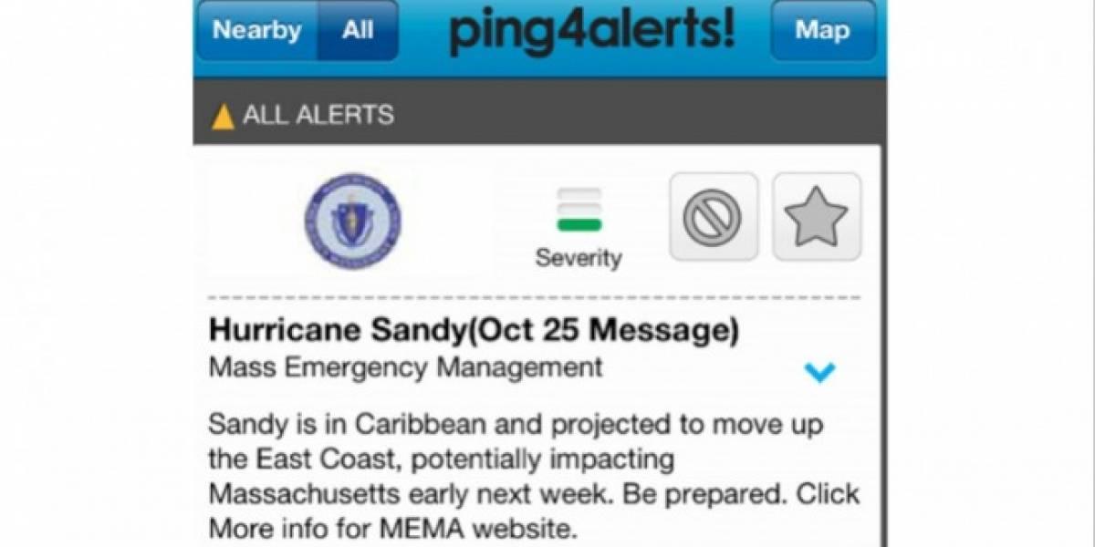 Sandy: El Huracán para probar una nueva app