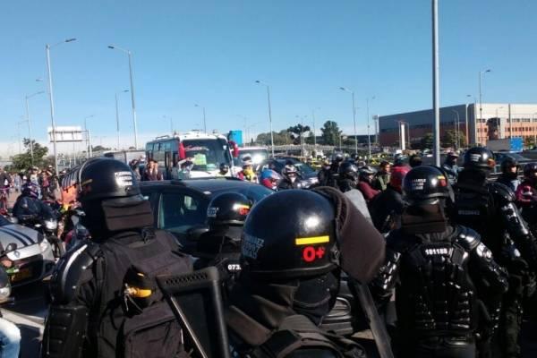 Protesta motocicletas Bogotá