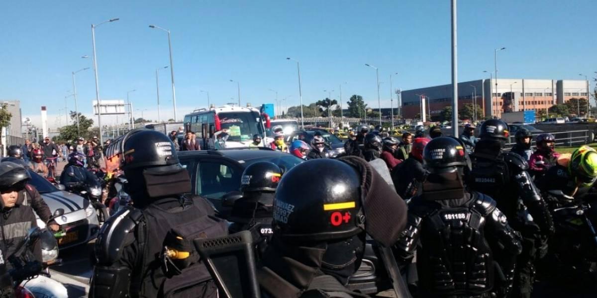 Motero agredido por policías en marchas de la semana pasada recibió 12 días de incapacidad
