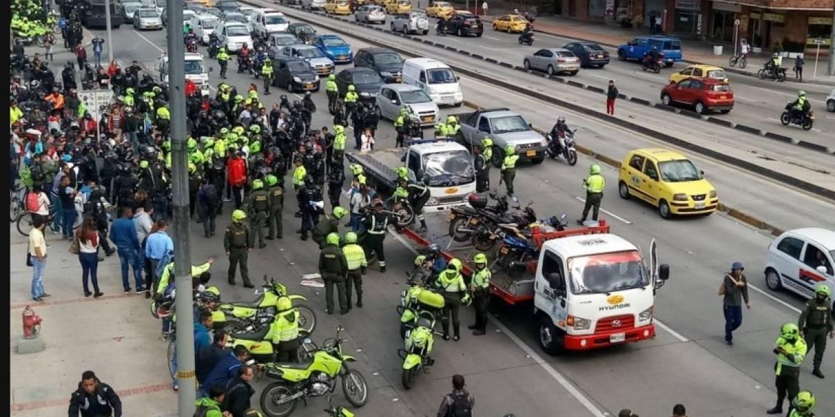 Distrito ordena llevarse con grúa las motos que bloquean en la calle 26