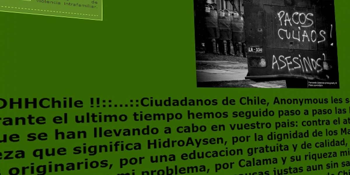 Chile: Anonymous lanza ataque contra la web de Carabineros