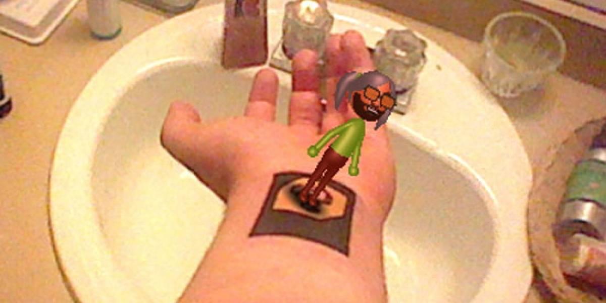 Fanático se hace un tatuaje de tarjeta de realidad aumentada para 3DS