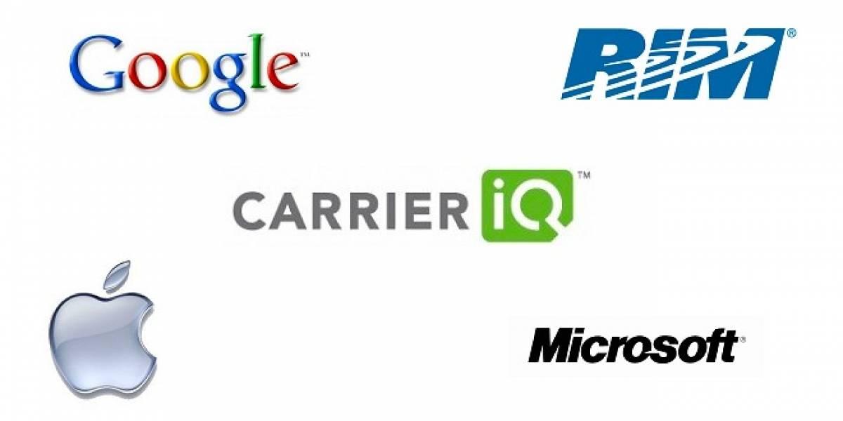 Google, RIM, Microsoft y Apple confirman que no tienen relación alguna con Carrier IQ