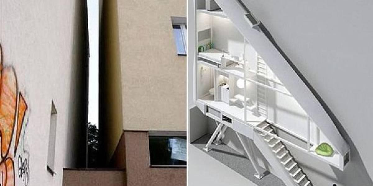 La casa más angosta del mundo será construida en un pasaje de 1,5 metros