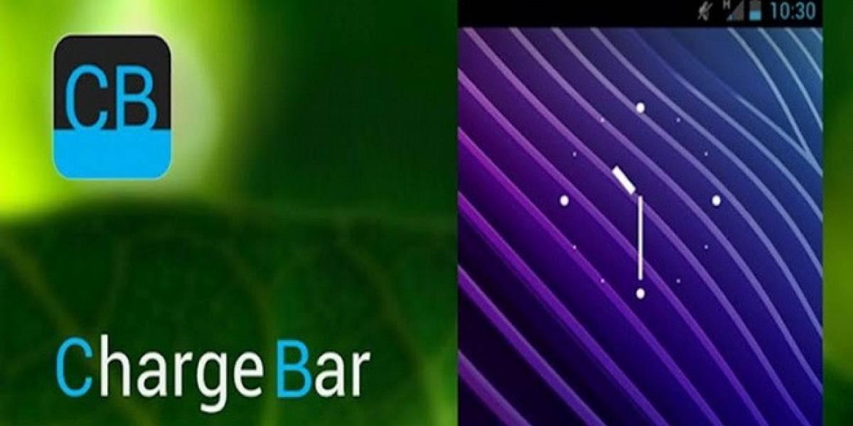 ChargeBar: Un original indicador de batería para Android