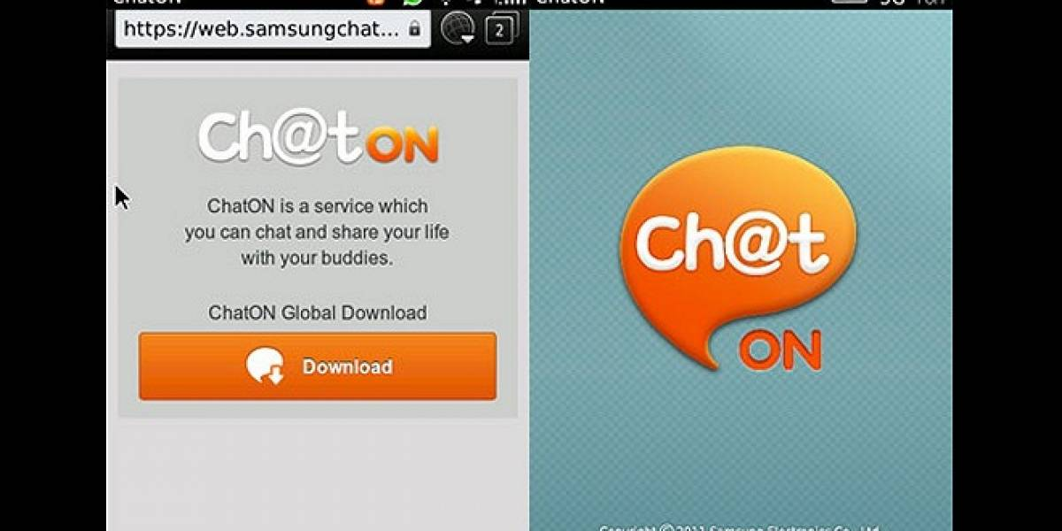 Samsung ChatON ahora disponible para BlackBerry