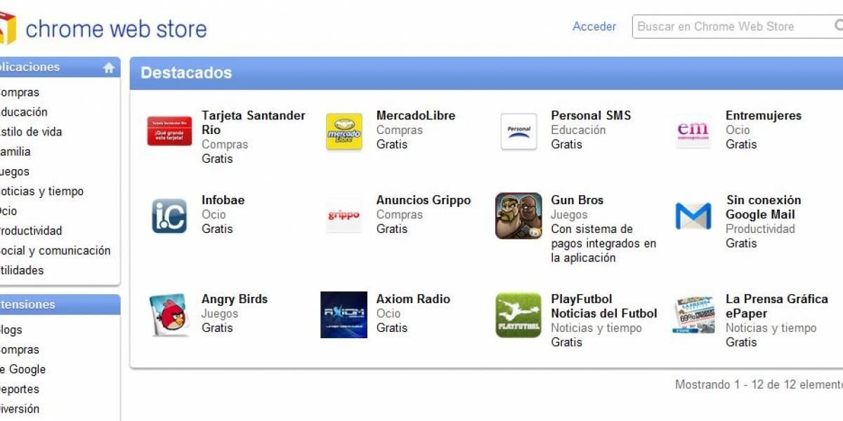 Chrome Web Store ahora está disponible para Argentina y México