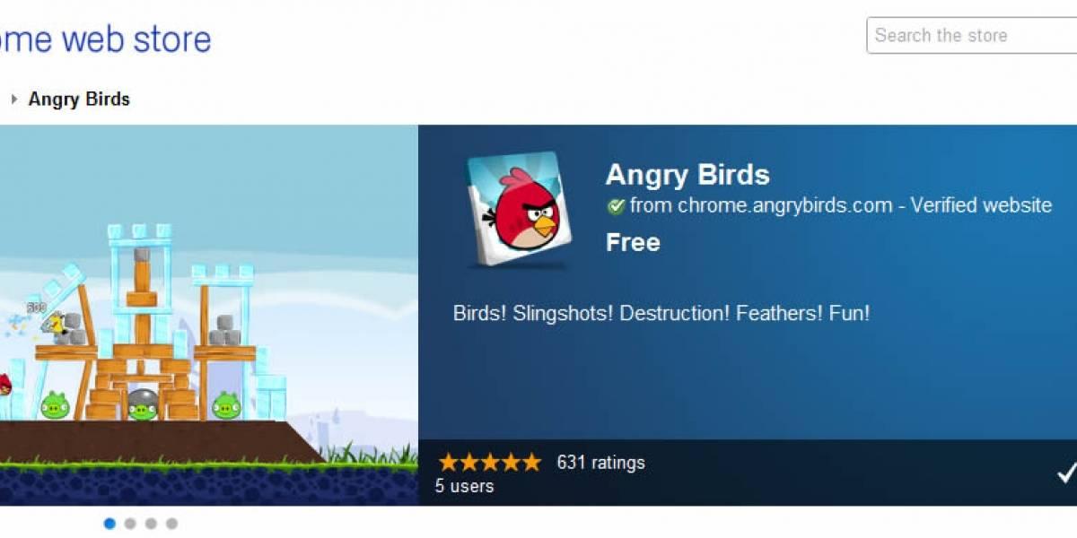 Ya puedes jugar Angry Birds en tu navegador gracias a aplicación de Chrome
