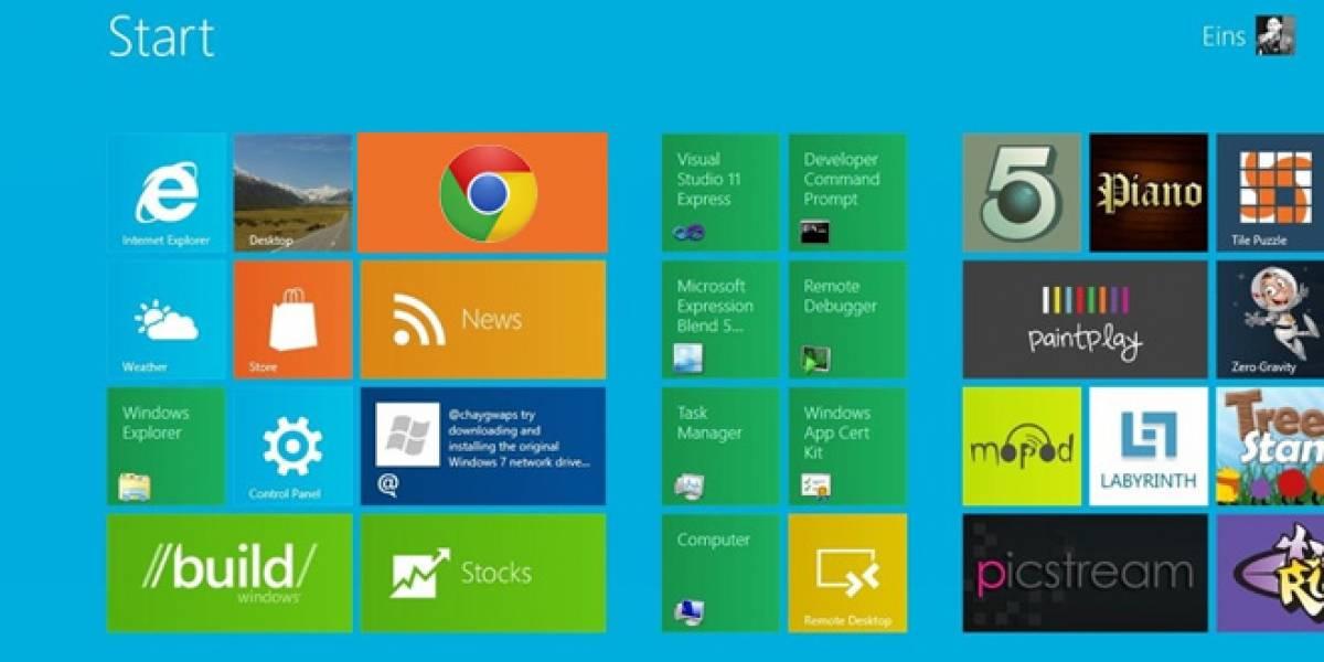 Google Chrome también se sube al Metro de Windows 8