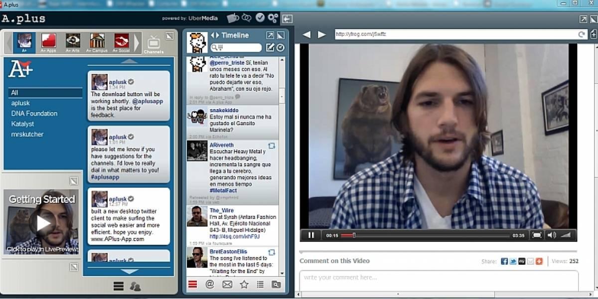 WTF? UberMedia y Ashton Kutcher presentan A.plus, un cliente de Twitter