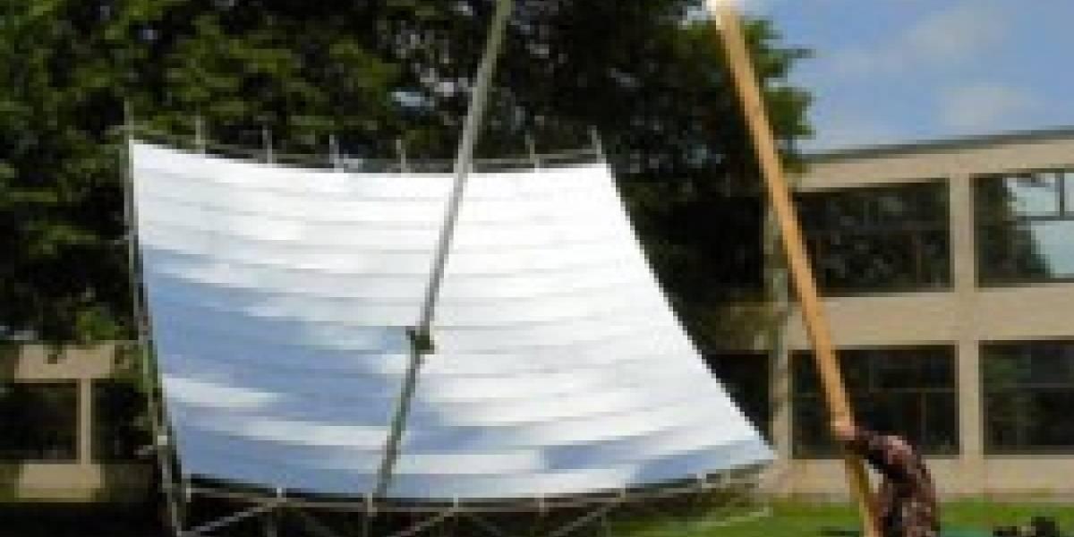 Colector solar que puede fundir el acero