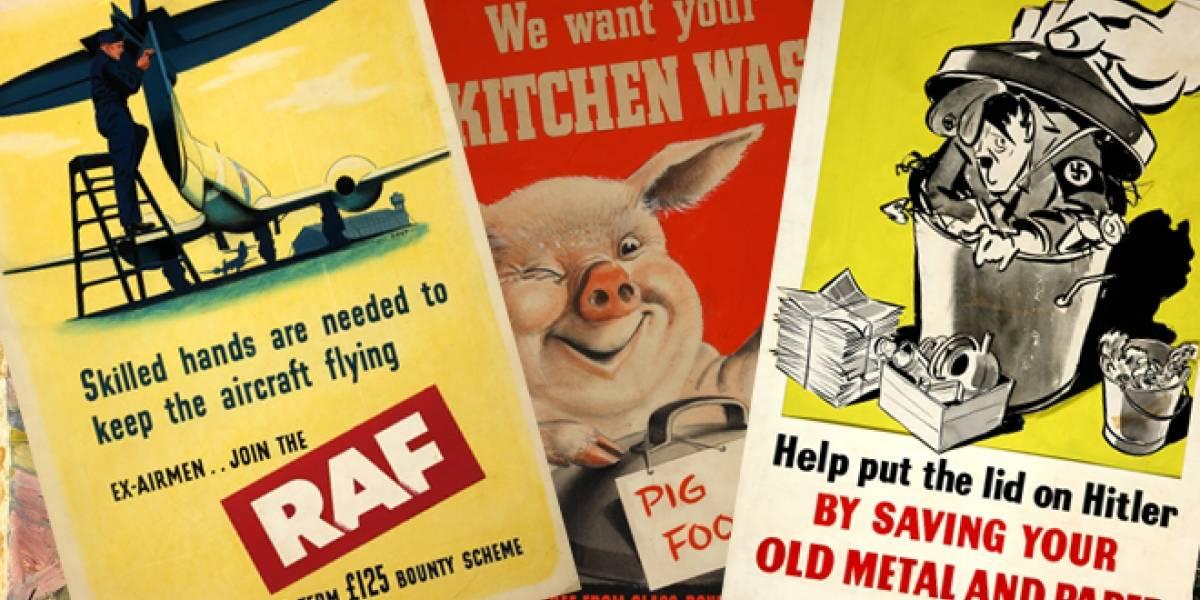 Reino Unido: Los carteles de la II Guerra Mundial llegan a Internet