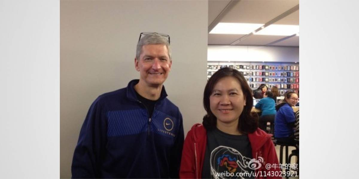 Tim Cook es el primer CEO de Apple en visitar China
