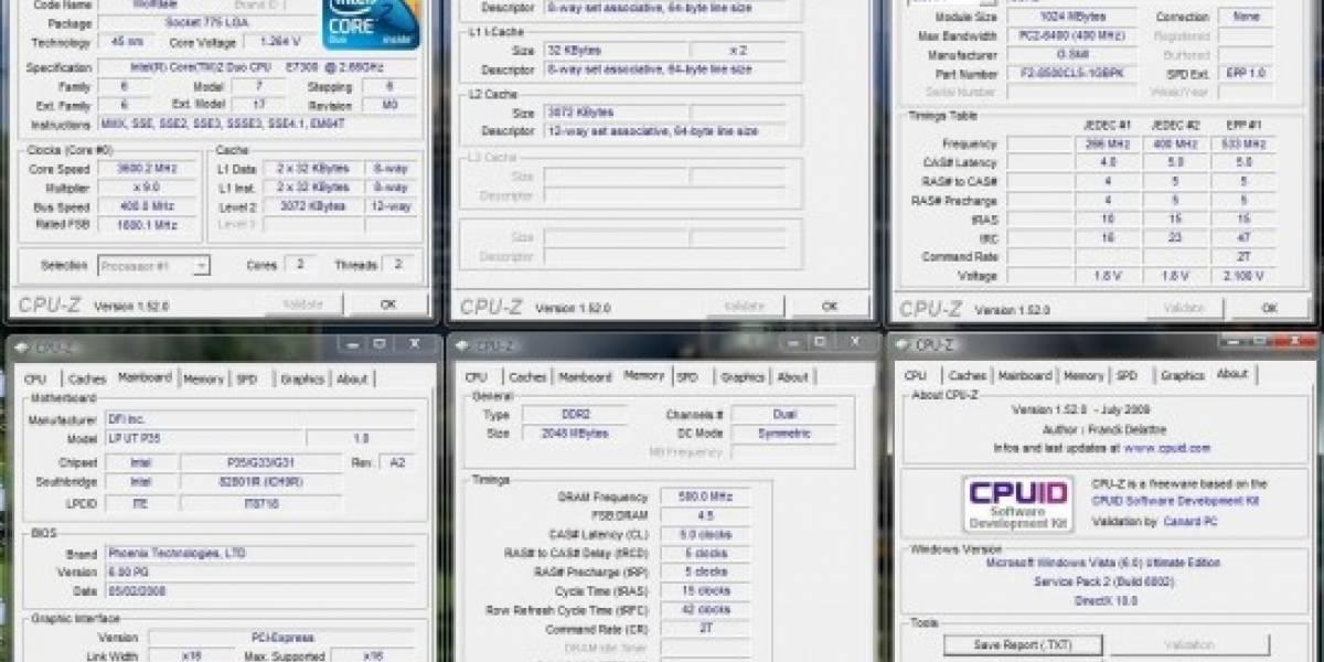 Se actualiza CPU-Z a la versión 1.52 Beta