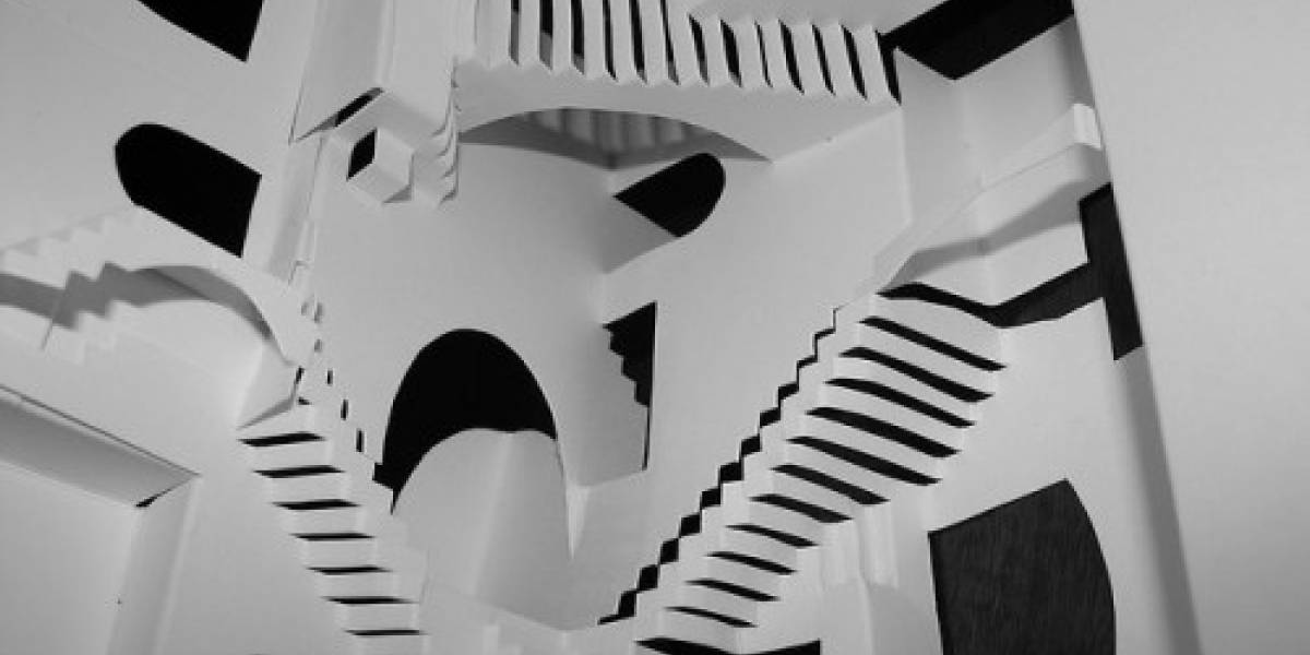 La relatividad de Escher recreada a través del origami