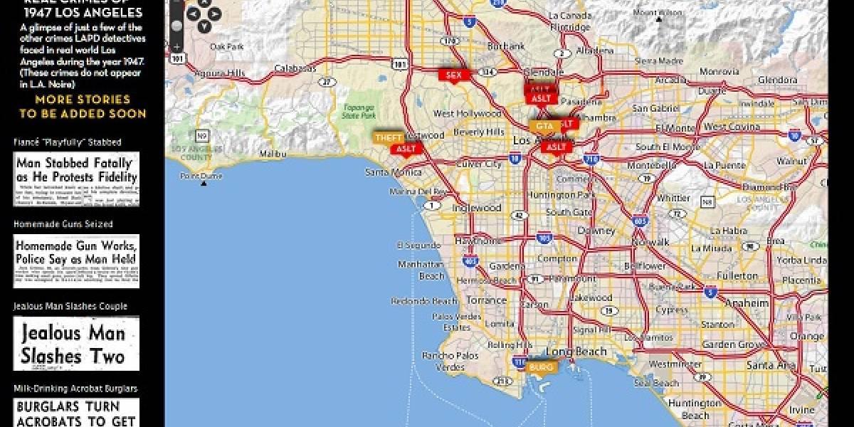 Rockstar Games y el L.A. Times presentan el Mapa Interactivo de Crímenes de Los Angeles en 1947