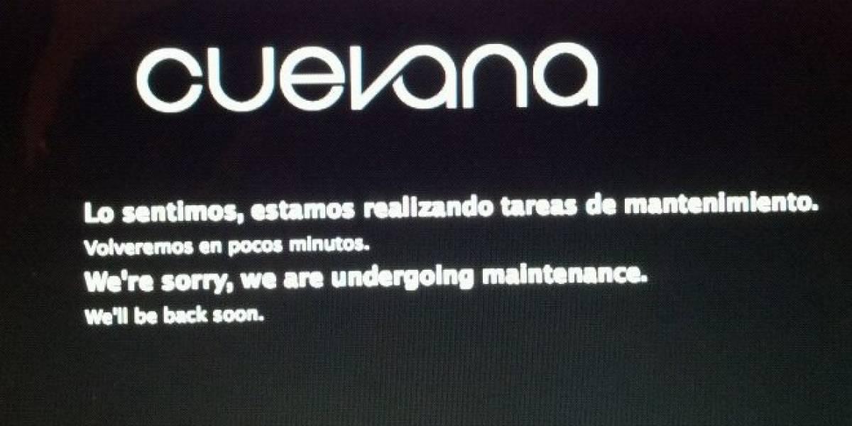 """Cuevana dejó de funcionar por """"mantenimiento"""""""
