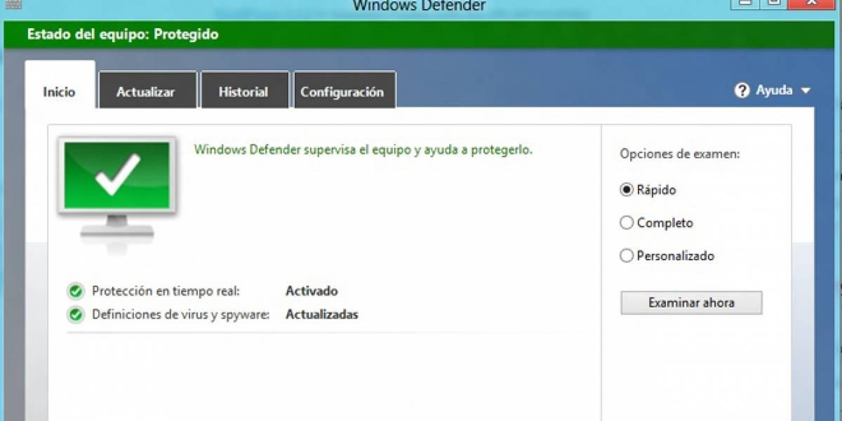 Antivirus Microsoft integrado en Windows 8 se apagará si hay otro producto