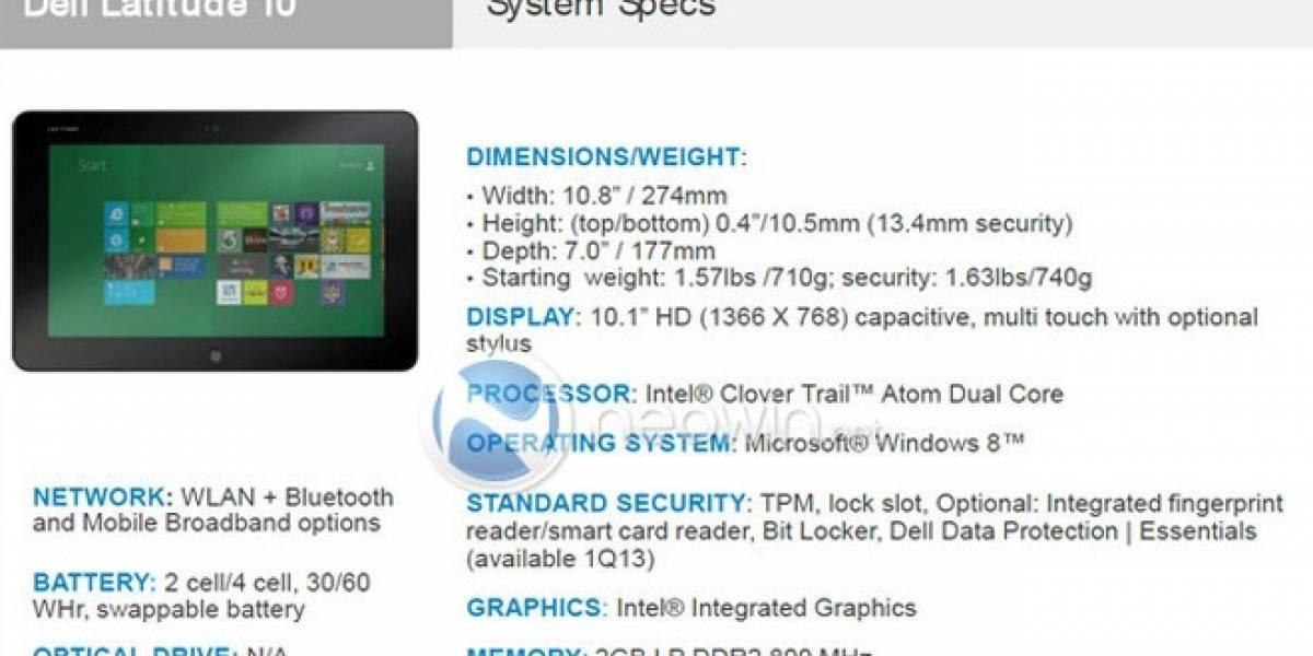 Se filtra la nueva tableta Dell con Windows 8
