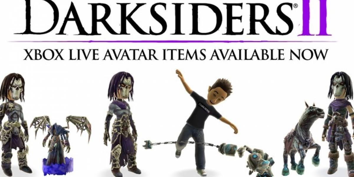 Colección Premium de artículos del videojuego Darksiders II para el avatar de Xbox 360