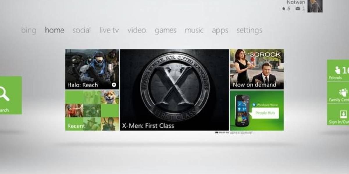 La nueva interfaz de Xbox 360, en video y en francés