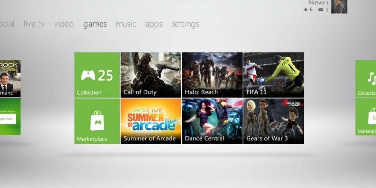 La nueva interfaz de Xbox 360 podría llegar el 25 de Noviembre