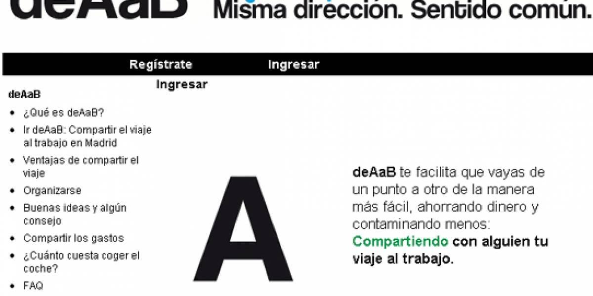 Una Web promueve el uso compartido de vehículos en Madrid