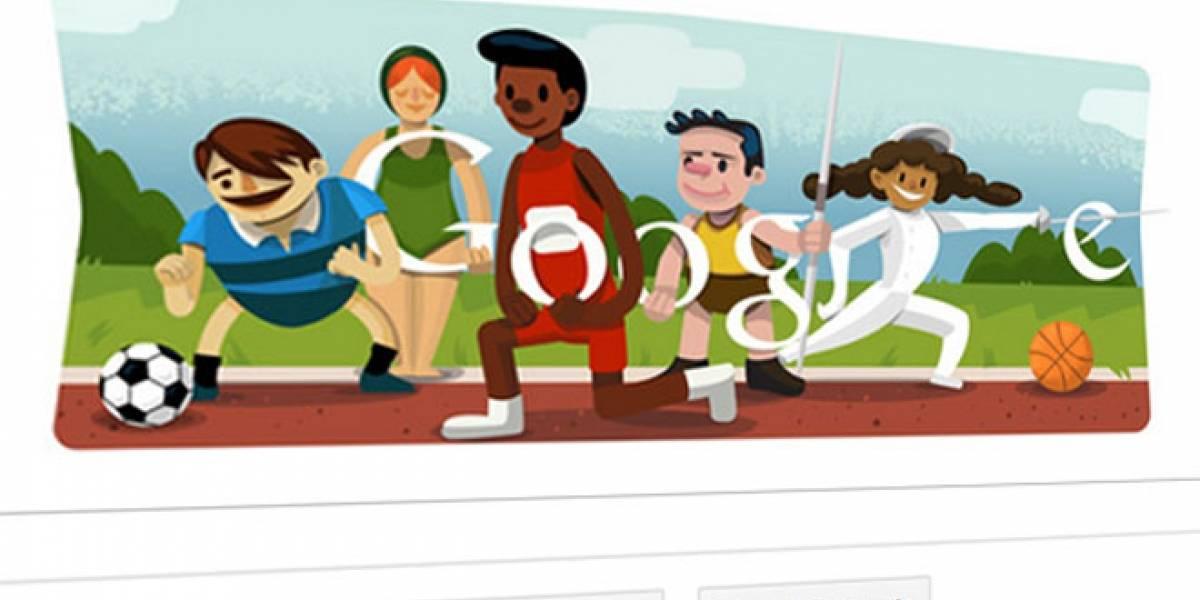 El Doodle de hoy celebra la inauguración de los JJ.OO. Londres 2012