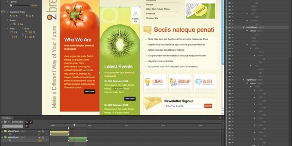 """Adobe lanza """"Edge"""", una herramienta para crear animaciones en HTML5"""
