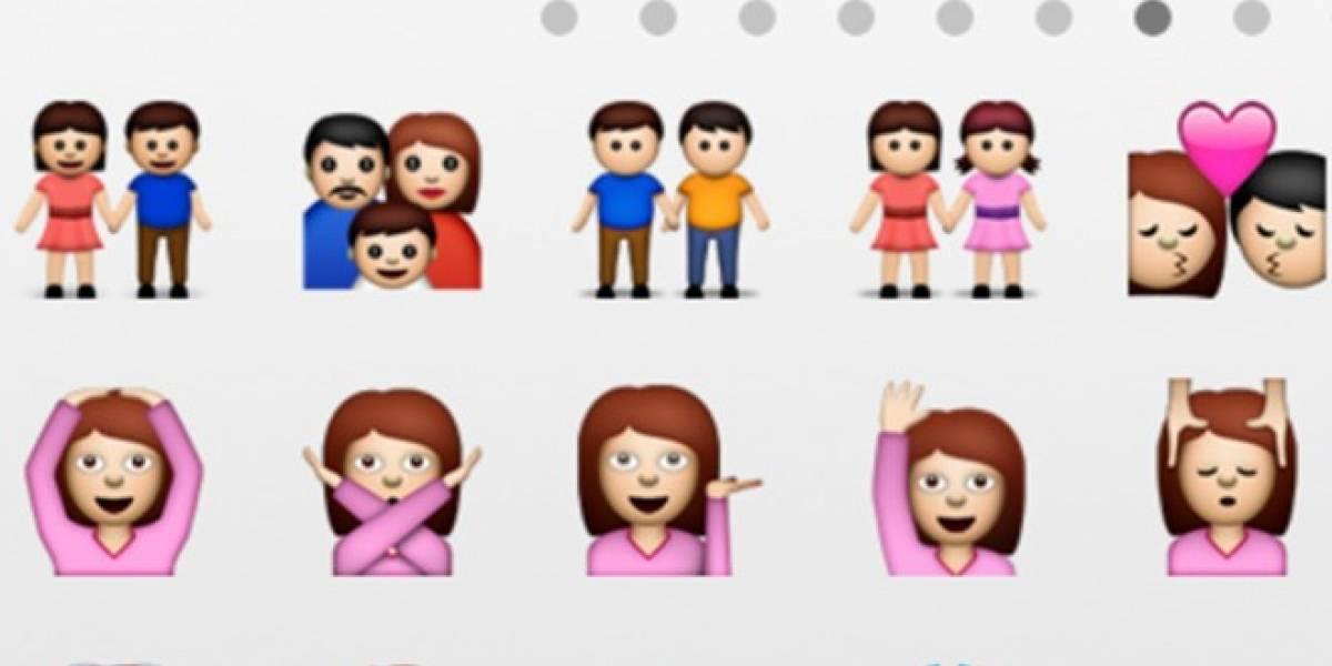 Apple agrega iconos de parejas homosexuales en iOS 6