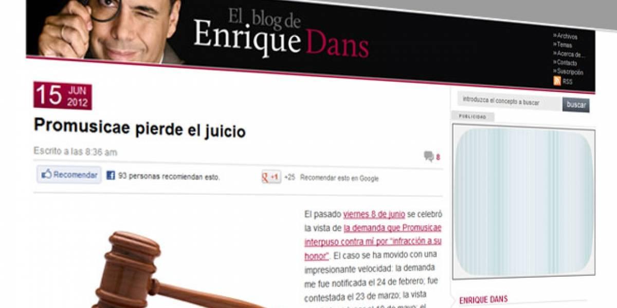 España: Promusicae pierde el juicio contra el bloguero Enrique Dans
