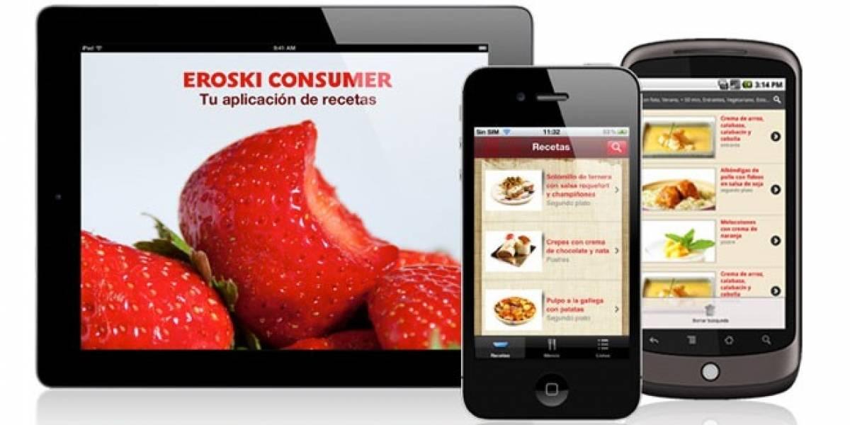España: Eroski lanza una aplicación para iOS y Android con miles de recetas de cocina