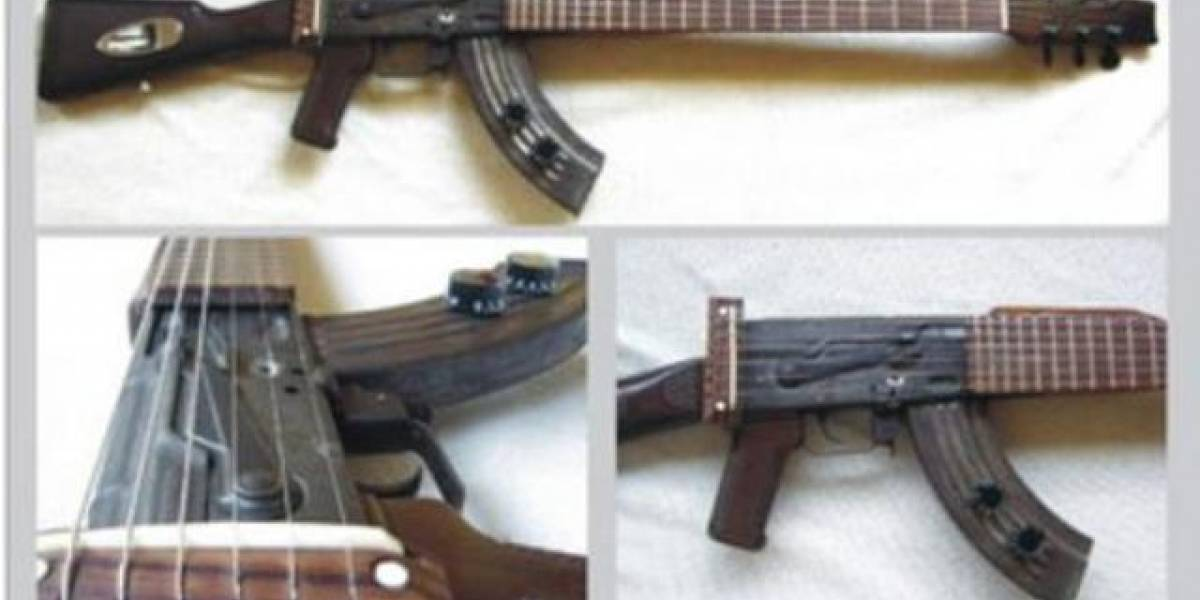 Guitarra hecha a partir de un AK-47 promete riffs letales