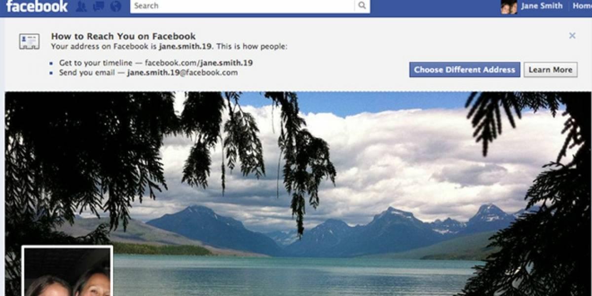 Todos los usuarios tendrán correo de Facebook desde hoy