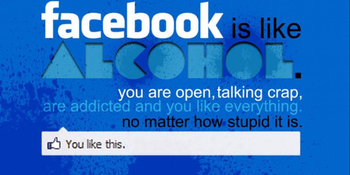 Estudio afirma que los estudiantes que hablan de alcohol tienen más amigos en Facebook