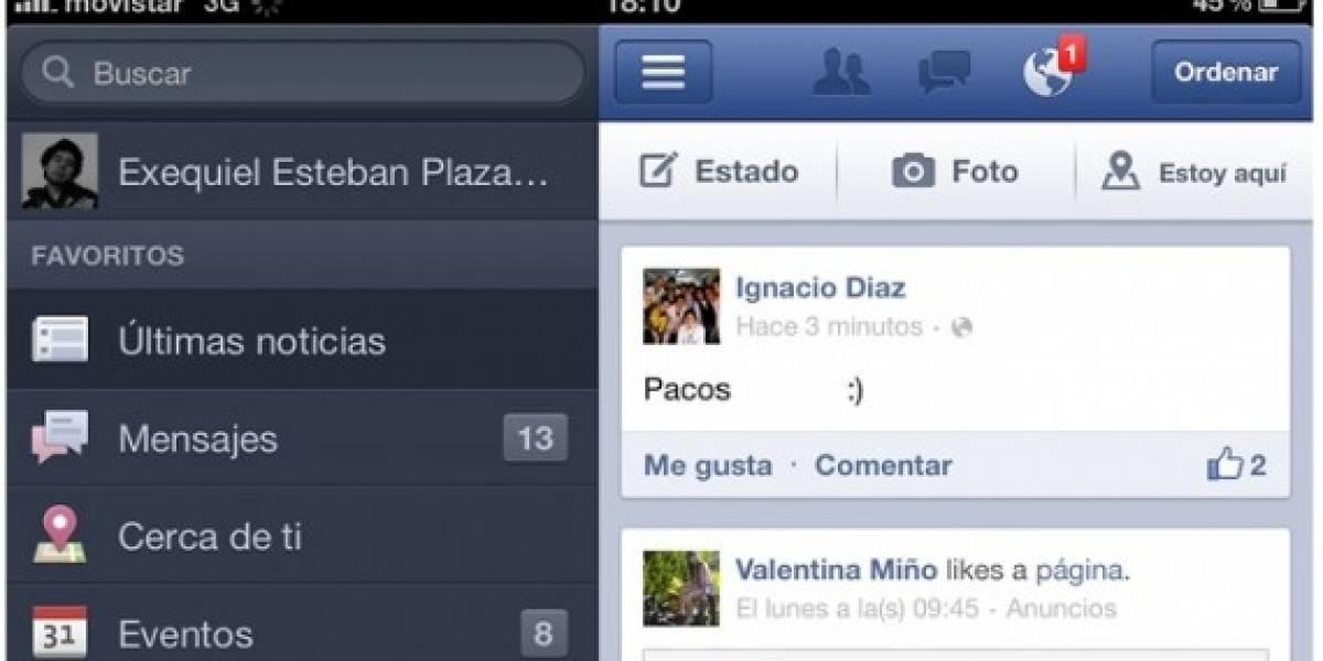 La nueva aplicación de Facebook para iOS ya está en la App Store
