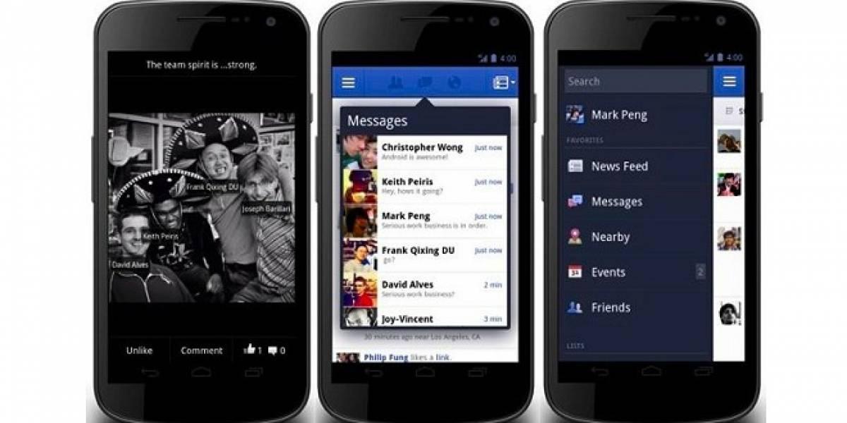 Facebook para Android se actualiza con una renovada interfaz
