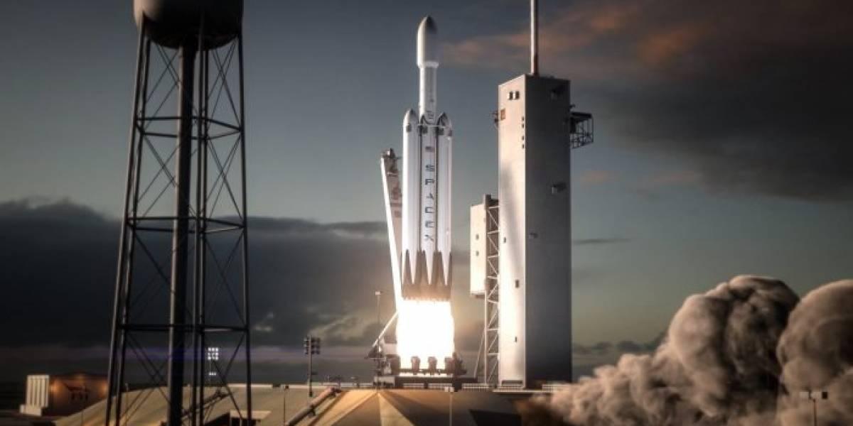 Cohete Falcon Heavy por fin prendió sus motores