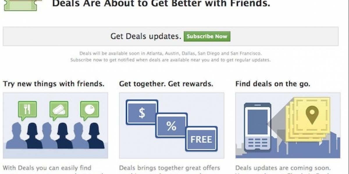 Facebook lanza su propio sitio de cupones