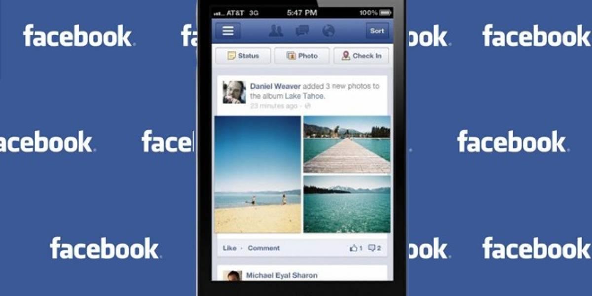 Facebook actualiza la forma de ver fotografías en su aplicación para móviles