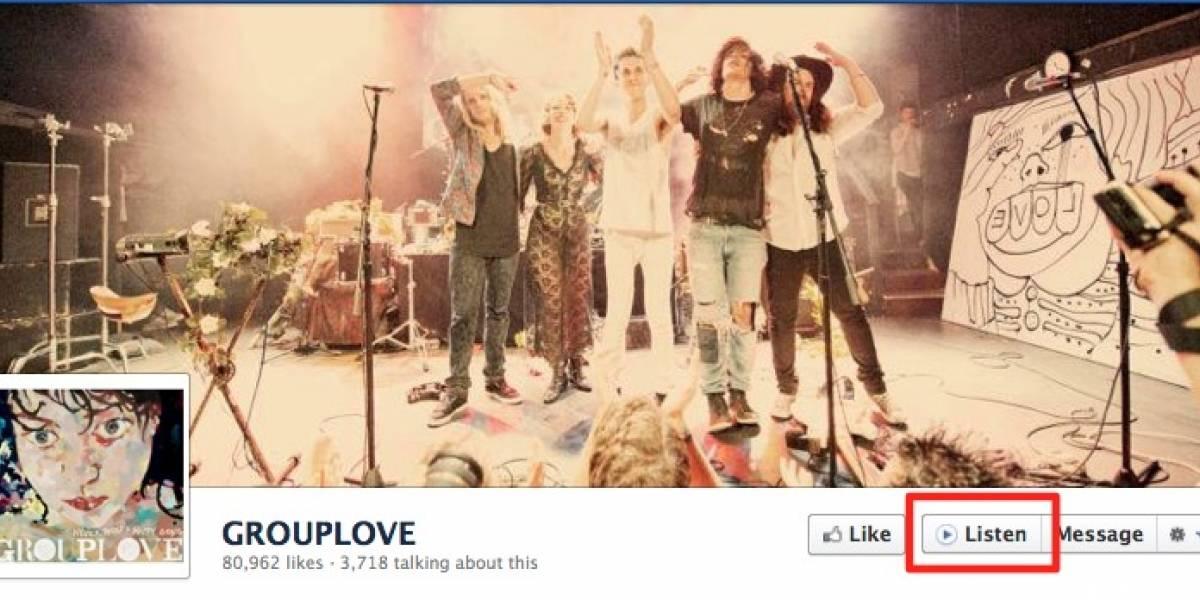 """Facebook incorpora nuevo botón """"Listen"""" en páginas de música"""