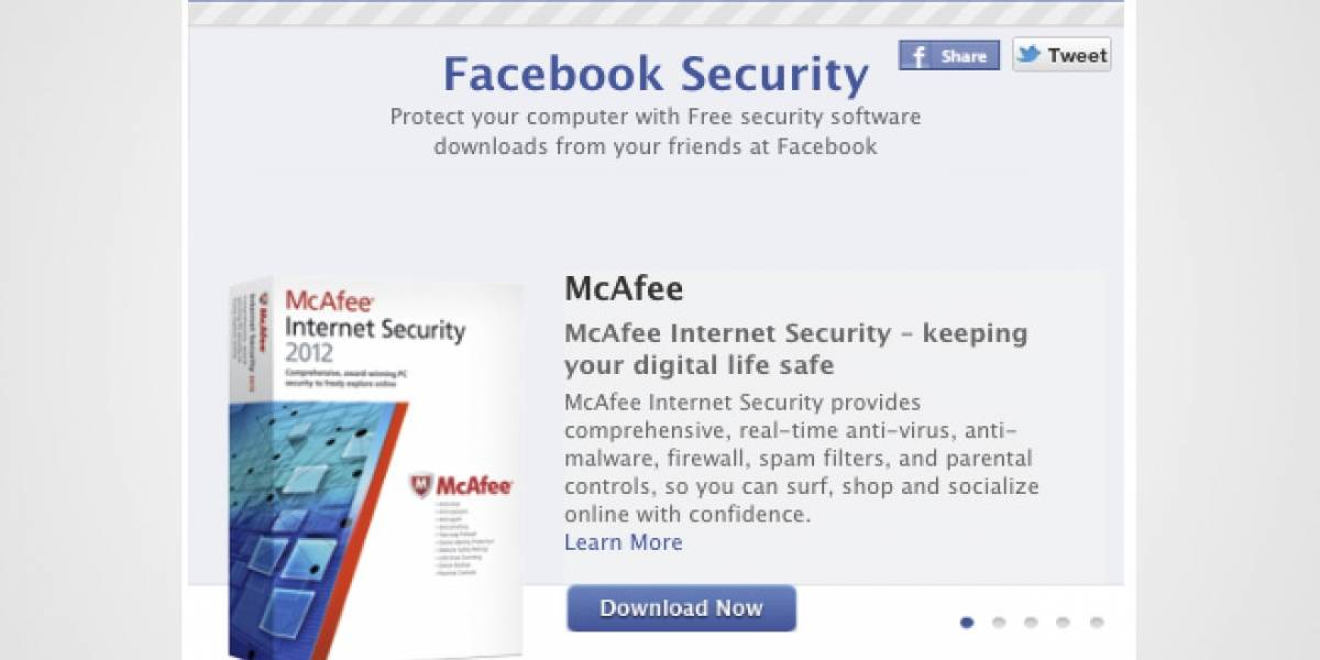 Facebook se asocia con Microsoft, Symantec y otros para ofrecer antivirus gratis