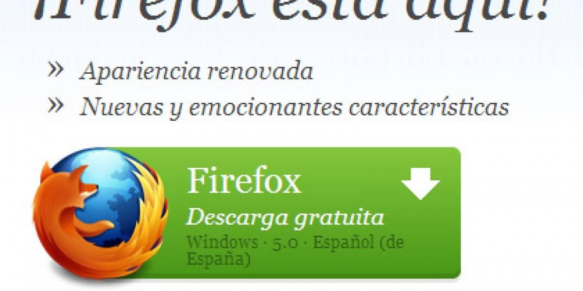 Firefox 5 ya se puede descargar de forma oficial