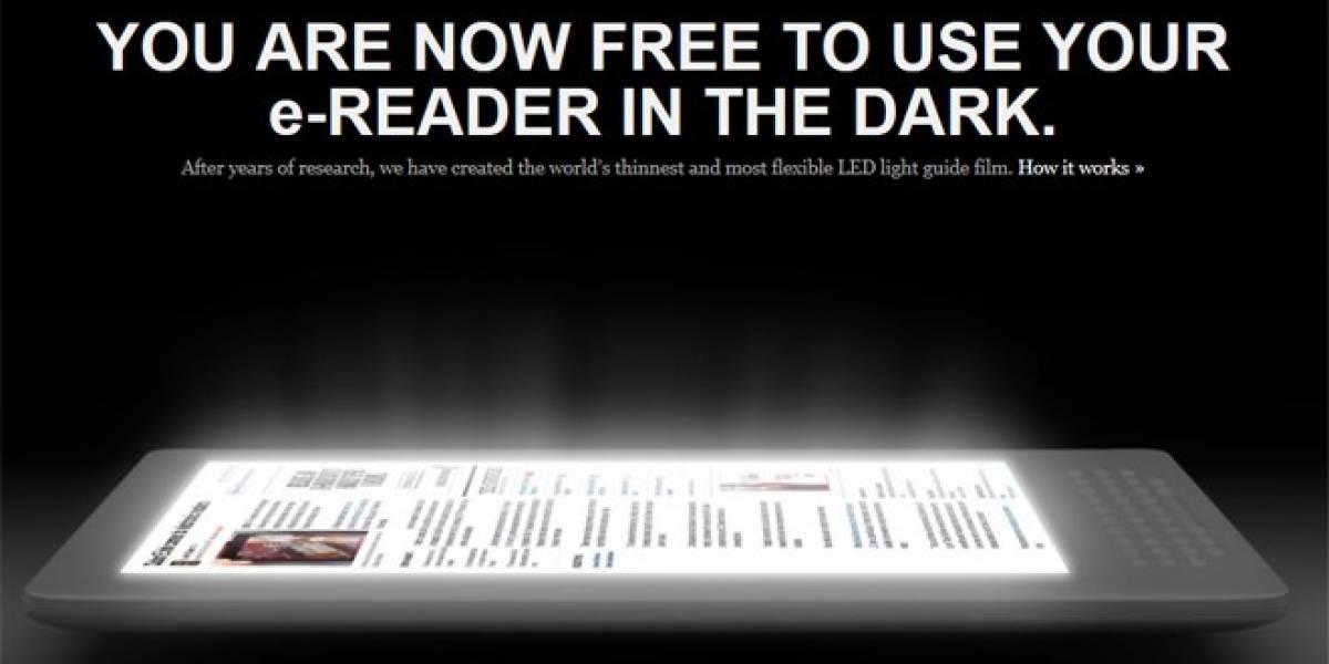 Estrenan tecnología que le da iluminación a las pantallas de tinta digital